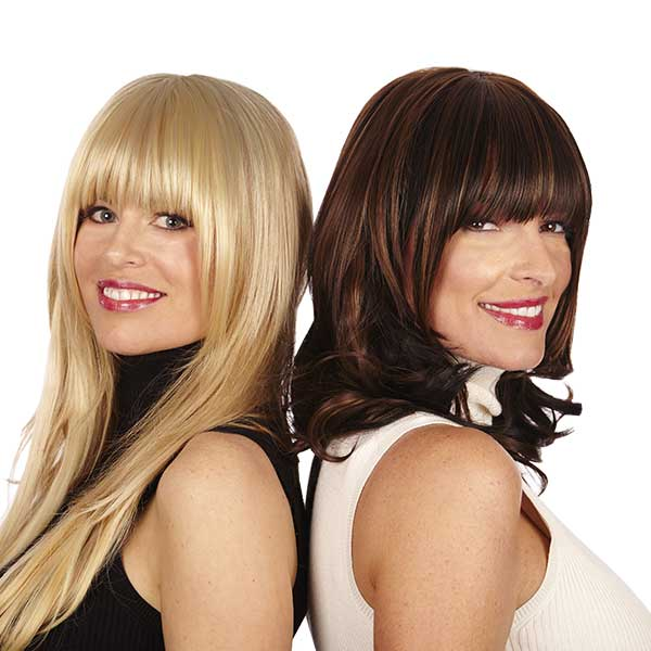 Clip On Bangs Synthetic Hairpiece Lox Hair Extensions